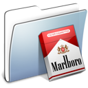 marlboro, smooth, Folder, Graphite Black icon
