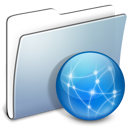 Folder, Sites, smooth, Graphite LightSteelBlue icon