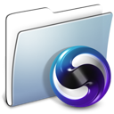 Folder, smooth, Graphite, themes LightSteelBlue icon