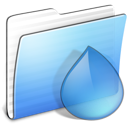 Folder, Aqua, torrents, stripped CornflowerBlue icon