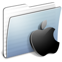 Apple, stripped, Graphite, Folder LightSteelBlue icon