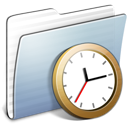 Folder, Clock, Graphite, stripped LightSteelBlue icon