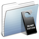 Disturb, Do, Folder, Graphite, stripped, Not LightSteelBlue icon