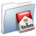 marlboro, Graphite, Folder, stripped LightSteelBlue icon