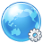 earth, world, Browser, settings DodgerBlue icon