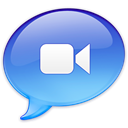 ichat, video CornflowerBlue icon