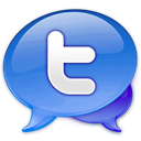 twitter, Tweetie CornflowerBlue icon