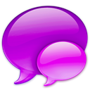 references, Balloon, Chat, pink, talk DarkViolet icon
