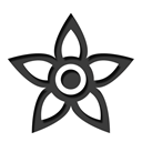 Flower Black icon