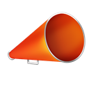 blog, bullhorn, advertising Black icon
