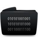 Byte, Folder Black icon