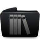 Folder, Library Black icon