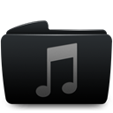 music, Folder, itunes Black icon