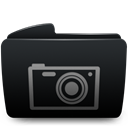 photos, Folder Black icon