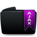 Folder, Ajax Black icon