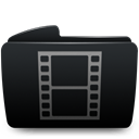 Folder, Movies Black icon