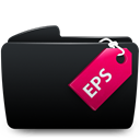 Eps, Folder Black icon
