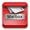 mail, phone Crimson icon