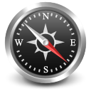 compass, Se, navigate, south east DarkSlateGray icon