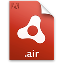 package, document, Air, Installer, adobe, File Black icon