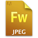 File, Fw, document, jpg DarkGoldenrod icon
