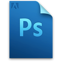 File, adobe, document, photoshop DarkCyan icon