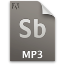 Sb, Audio, secondary, File, document, mp3 DimGray icon