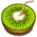 Fruit, drink, Kiwi YellowGreen icon