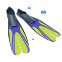 fins, Diving, scuba Black icon