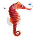seahorse, Animal, fish Black icon