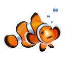 nemo, Clown fish, fish Black icon