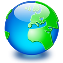 earth, global, internet, network, world DeepSkyBlue icon