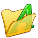 Folder, yellow, Font Black icon
