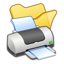printer, yellow, Folder Icon