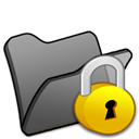 locked, Folder Black icon