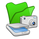 &, green, Cameras, Folder, scanners LimeGreen icon