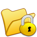 yellow, Folder, locked Khaki icon