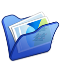 Folder, Blue, mypictures Black icon
