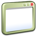 windows, olive Black icon