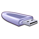 Usb, storage Black icon
