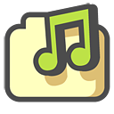 music, shared DarkSlateGray icon