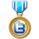 medal, twitter Black icon