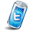 Soda can, twitter Black icon