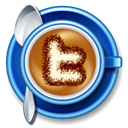 cup, Coffee, twitter, Cappucino Black icon