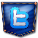 twitter, Jeans, pocket MidnightBlue icon