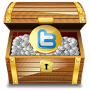gold, chest, twitter Peru icon