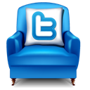 twitter, Chair, furniture Black icon
