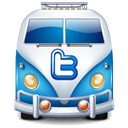 twitter, van, Car Black icon
