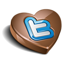 Chokolate, twitter Black icon