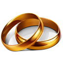 Marriage, wedding, party, rings Icon